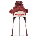 Cute Sock Monkey pruhovaná červená - zvířecí čepice (dospělí)