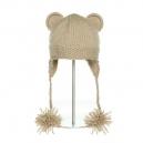 Hand Knit Bear taupe - zvířecí čepice (dospělí)