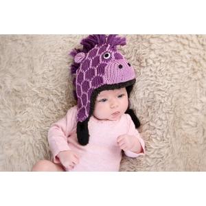 Purple Giraffe - zvířecí čepice žirafa (mimča)