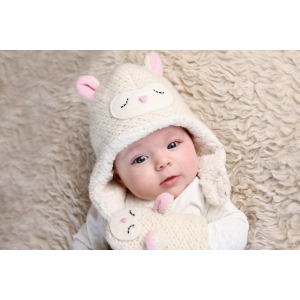 Lally the Lamb - zvířecí čepice beránek (mimča)