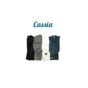 Cassia - rukavice v černé barvě - zaklápěcí