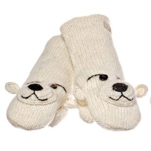 Peewee The Polar Bear - rukavice medvěd (mladí/dospělí)