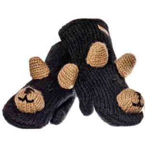 Babu The Black Bear - rukavice medvěd (mladí/dospělí)