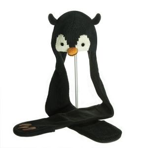 Peppy the Penguin Scarf Hat - čepice s šálou tučňák (mladí/dospělí)