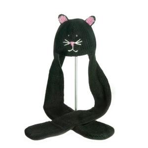 Kiki the Kitty Scarf Hat - čepice s šálou kočka (mladí/dospělí)
